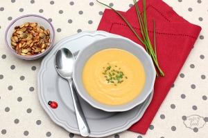 Supa crema de dovleac si pere